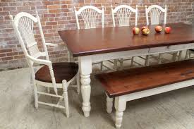 pine bench for kitchen table farmhouse dining table and matching bench lake and mountain home