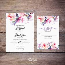 diy wedding invitations printable watercolor floral wedding invitation suite