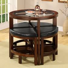 Dining Tables With 4 Chairs Amazon Com Crystal Cove Dark Walnut Wood 5 Pieces Glass Top