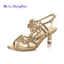 princess wedding shoes aliexpress buy sandals rhinestone made