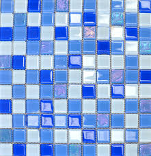 Blue Glass Tile Bathroom - nice blue mosaic bathroom tiles in home remodel ideas with blue