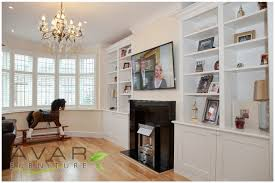 Built In Bookshelves Bespoke Bookcases London Furniture by 04 Alcove Shelving London Traditional Doors From Avar Furniture