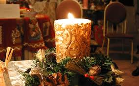 download wallpaper 3840x2400 new year christmas candle fire