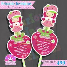 printable birthday invitations strawberry shortcake resultado de imagen de strawberry shortcake invitations rosita