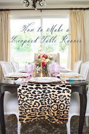 Dining Room Table Runner by How To Make A Leopard Table Runner By Randi Garrett Design