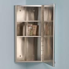 matson stainless steel corner medicine cabinet bathroom