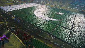 Pakistane Flag World Largest Pakistan Human Flag Muhammad Ashfaq