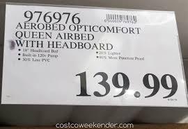 aerobed opticomfort queen headboard airbed costco weekender