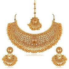 women necklace set images Apara bridal pearl lct stones gold necklace set jewellery for jpg