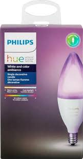 amazon black friday phillips hue ambiance philips hue 6 5w dimmable b39 led light bulb clear 468900 best buy