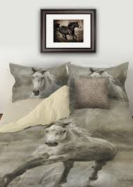 Duvet Bed Set Rustic Galloping Horse Duvet Bedding Cover The Painting Pony