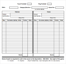 Note Sheet Template Sle Football Sheet 9 Documents In Pdf