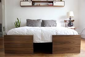 walnut bed frames u2014 imago furniture
