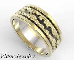mens gold wedding band hammered gold wedding band mens vidar jewelry unique custom