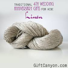 wedding anniversary gifts traditional 4th wedding anniversary gifts for him linen gift