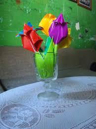 cara membuat bunga dari lipatan kertas membuat origami bunga tulip fitri s origami blog