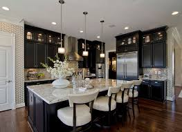 laminate countertops kitchens with dark cabinets lighting flooring