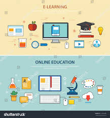 design online education online education elearning banner flat design stock vector hd