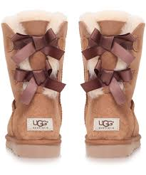 ugg sale at lord and ugg bailey bow boots in brown lyst