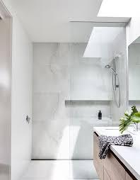 marble bathrooms ideas elsternwick house bathroom marble look tiles are fresh and
