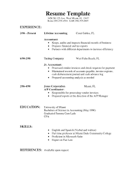 Fresher Accountant Resume Sample by Download Simple Resume Templates Haadyaooverbayresort Com