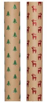 luxury christmas wrapping paper whsmith luxury kraft rudy green tree gl whsmith