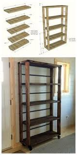 Furniture Plans Bookcase Free by Diy Industrial Cart Bookcase Diy Bookcases Tutorials And Industrial