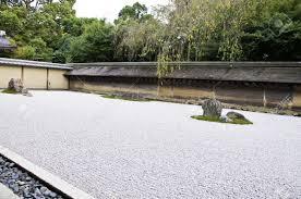 Ryoanji Rock Garden Rock Garden In Ryoanji Temple In A Garden Fifteen Stones On White