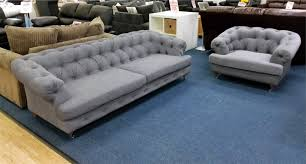 Grey Fabric Chesterfield Sofa by Mayfair Chesterfield Hi 5 Home Furniture