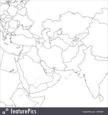 Middle East Maps by Signs And Info Blank Middle East Map Stock Illustration