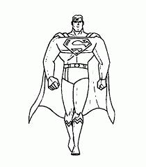 superman cartoon characters coloring