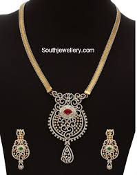 diamond necklace patterns images Diamond necklace latest jewelry designs jewellery designs jpg