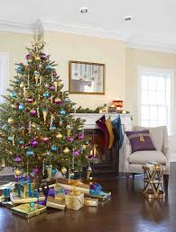 gold and blue tree decorations cheminee website
