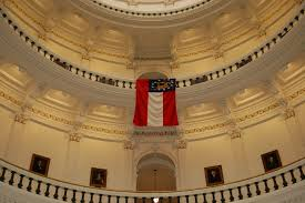 Georgia Flag State Georgia Governor Sonny Perdue Georgia State Flag Hangs In Texas