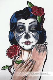 day of the dead tattoo design by lady elizriel on deviantart