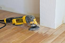 refinishing hardwood floors with a rental floor sander