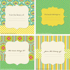 14 best bookplate labels u0026 book label templates images on