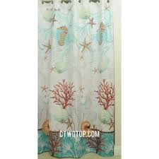 Brown And Green Curtains Designs And Green Coral Unique Designer Waterproof Shower Curtains