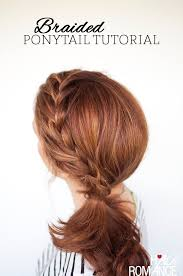 layer hair with ponytail at crown weekend style braided ponytail tutorial hair romance