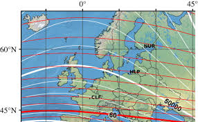 Magnetic Declination Map Theoretically Possible Spatial Accuracy Of Geomagnetic Maps Used