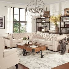Biege Sofa Cream Painted Living Room Furniture Fpudining