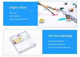 pebeo12 colors solid water color paint portable watercolor pigment