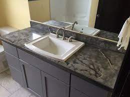 Bath Vanity Top Charcoal Veined Concrete Bath Vanity Top Sink