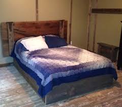 Bedroom Barn Doors by Rustic Barn Door Headboard Barn Board Bed Frame Cabin Bedroom