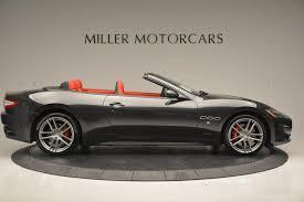 maserati granturismo matte black 2017 maserati granturismo convertible sport stock m1636 for sale