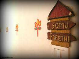 home name board design paper mache name board indian woodworking diy arts crafts blog