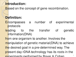 recombinant dna technology main ppt