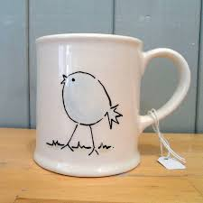 personalised hand painted ceramic bird mug by fired arts and