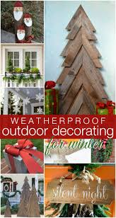 Christmas Outdoor Decor by Remodelaholic Diy Outdoor Decor For Winter