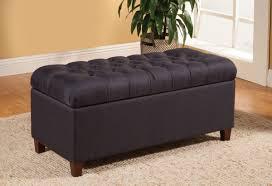 dark brown storage ottoman dark navy fabric storage ottoman caravana furniture
